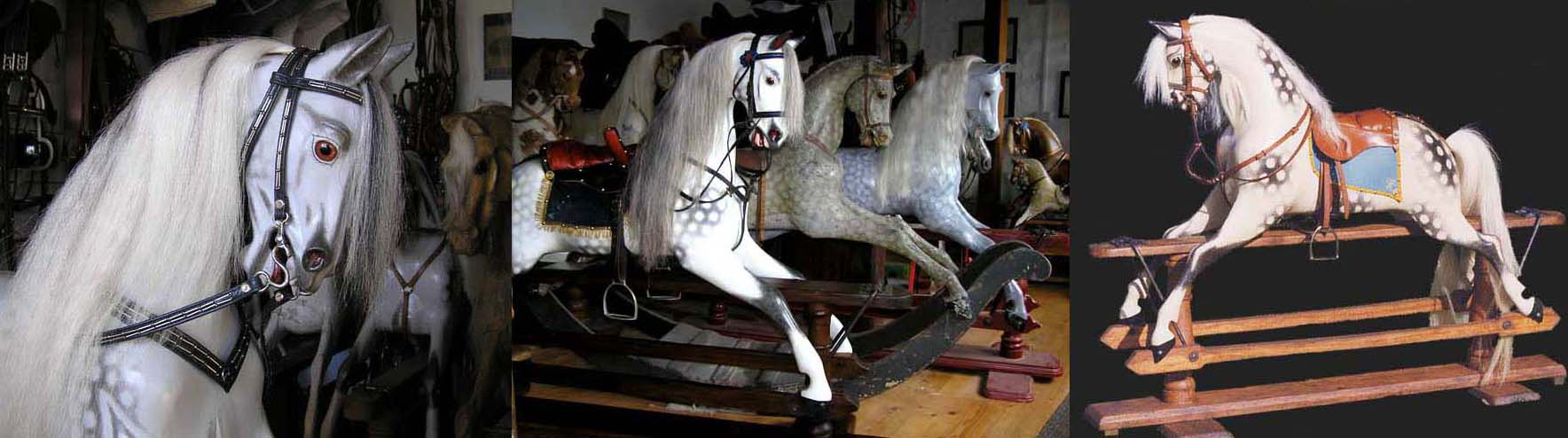 Antique Leach and Ayres rocking horses