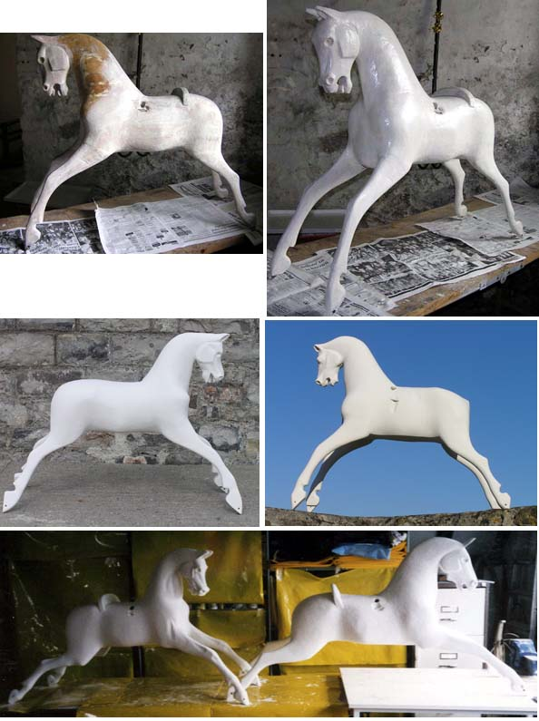 Anique rocking horses with new gesso